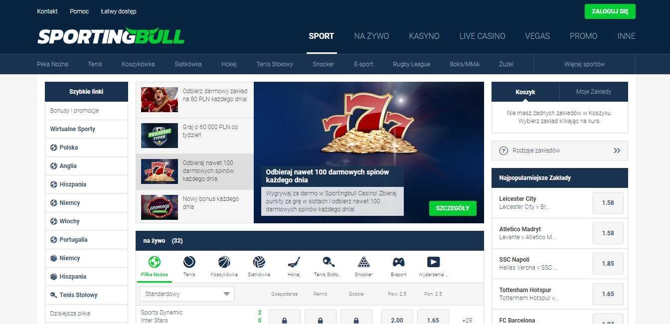 SportingBull kod bonusowy w Polsce