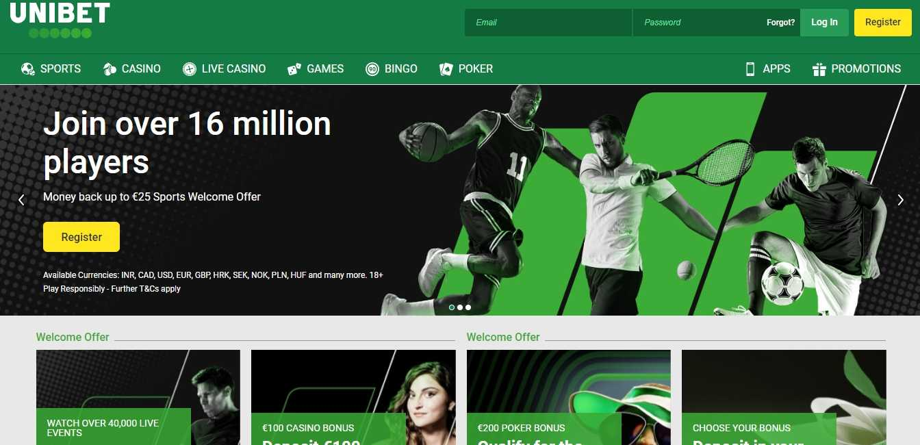 Unibet website kod bonusowy