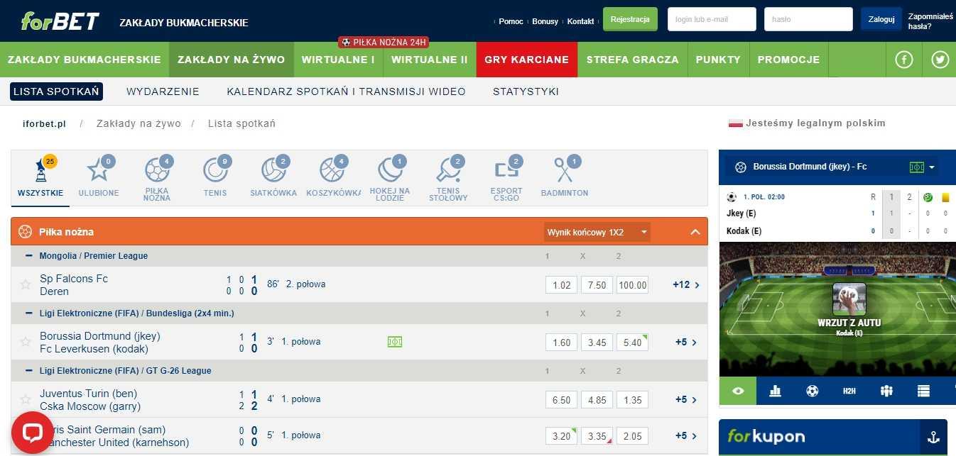 ForBET website Polska